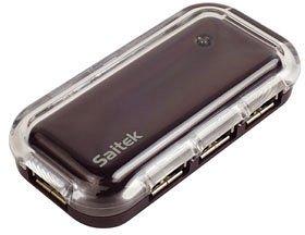 SAITEK USB 4 PORT HUB AUBERGINE