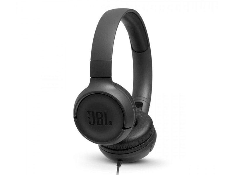 JBL Tune 500, OnEar Universal Headphones 1-button Mic/Rem (Black)