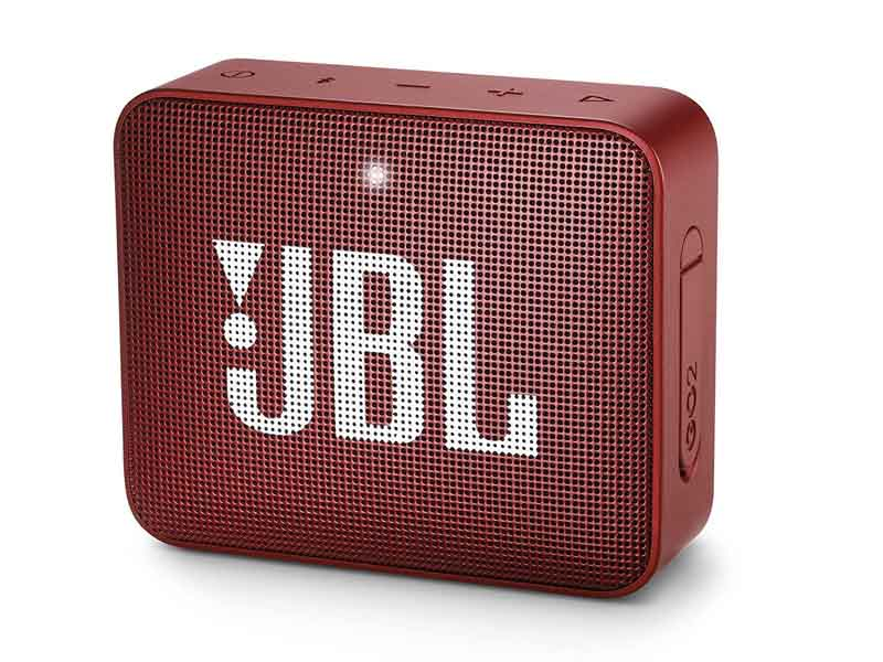 JBL GO2, Portable Bluetooth Speaker, Waterproof (Red)