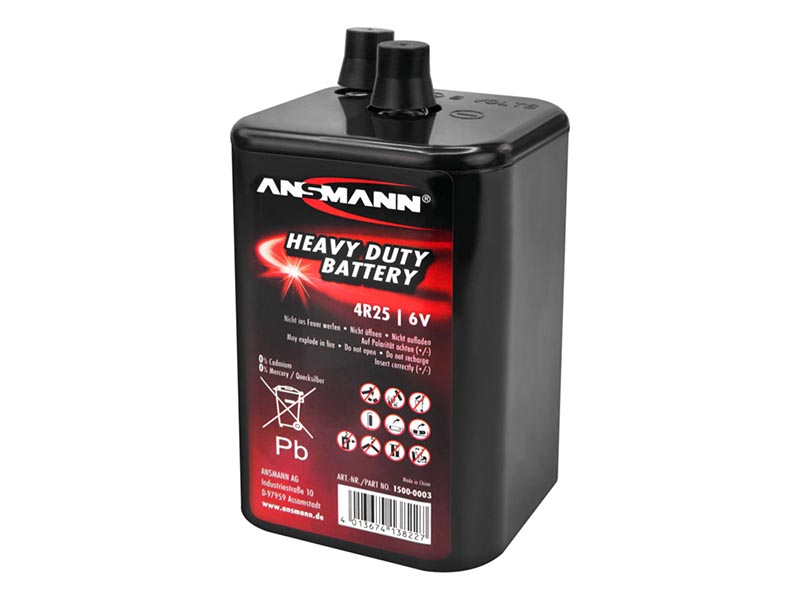 ANSMANN 4R25,Non - Rechargeable Batteries,Zinc Carbon Cells in Blister Packs