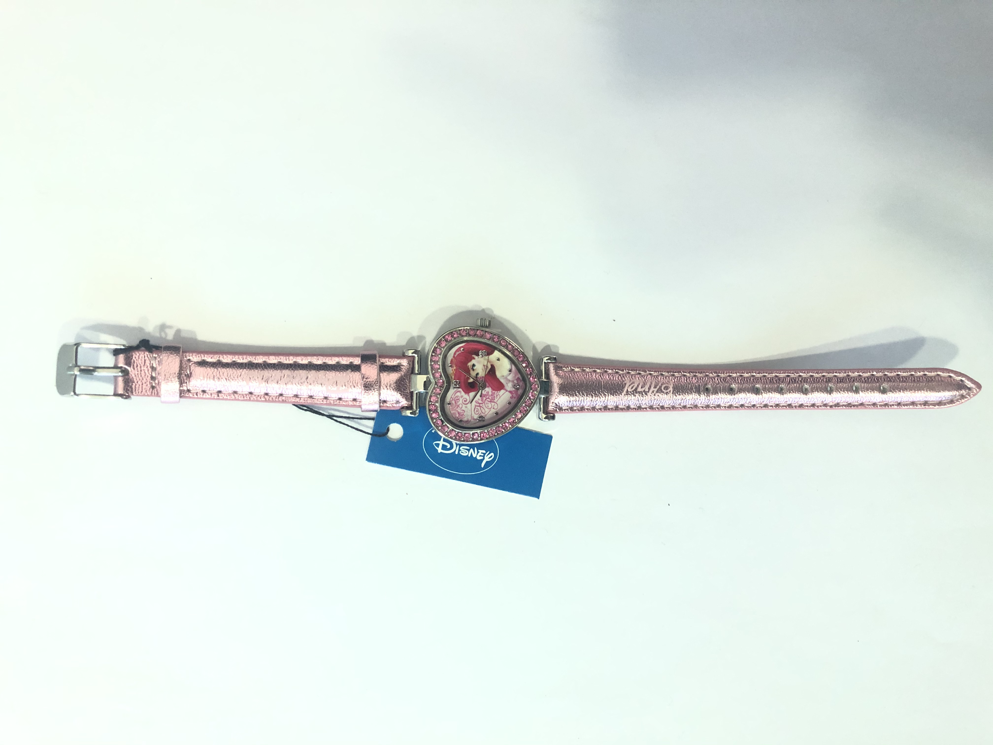 DISNEY WATCH ANALOG 4U  PINK HEARD ARIEL PRINCESS