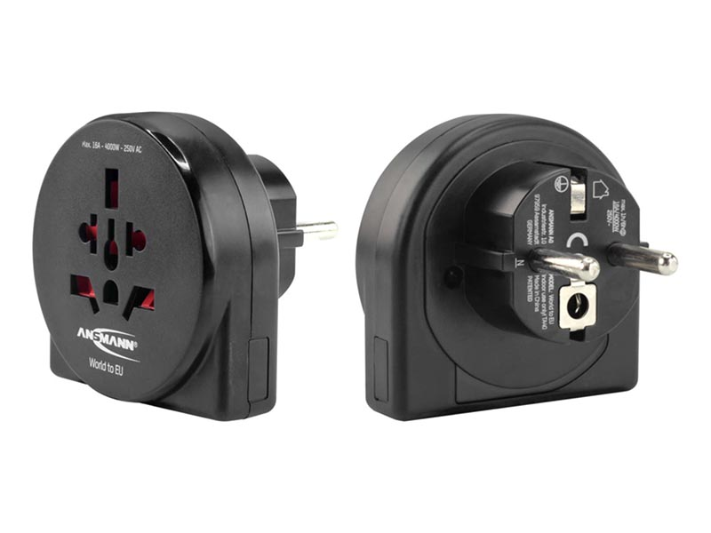 ANSMANN Travel Adaptor World to EU - NEW,Travel Power,Travel Adaptors & Accessories