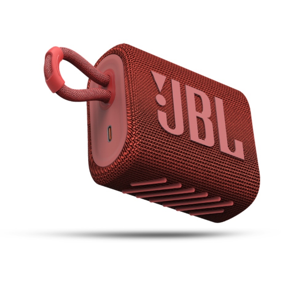 JBL GO3, Portable Bluetooth Speaker, Waterproof IP67, (Red)