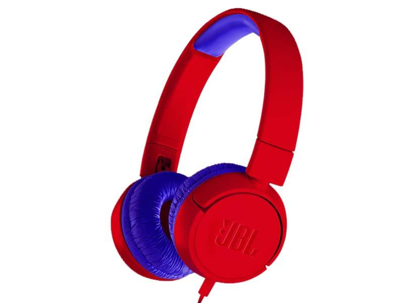 JBL JR300, On-Ear Headphones for Kids, Universal (Red)