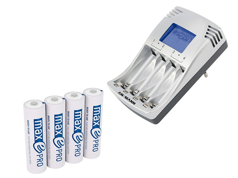 ANSMANN PC IV UK - NEW(Inc. 4 x Max e Pro High Performance AA Cells),Consumer Battery Chargers,Photo