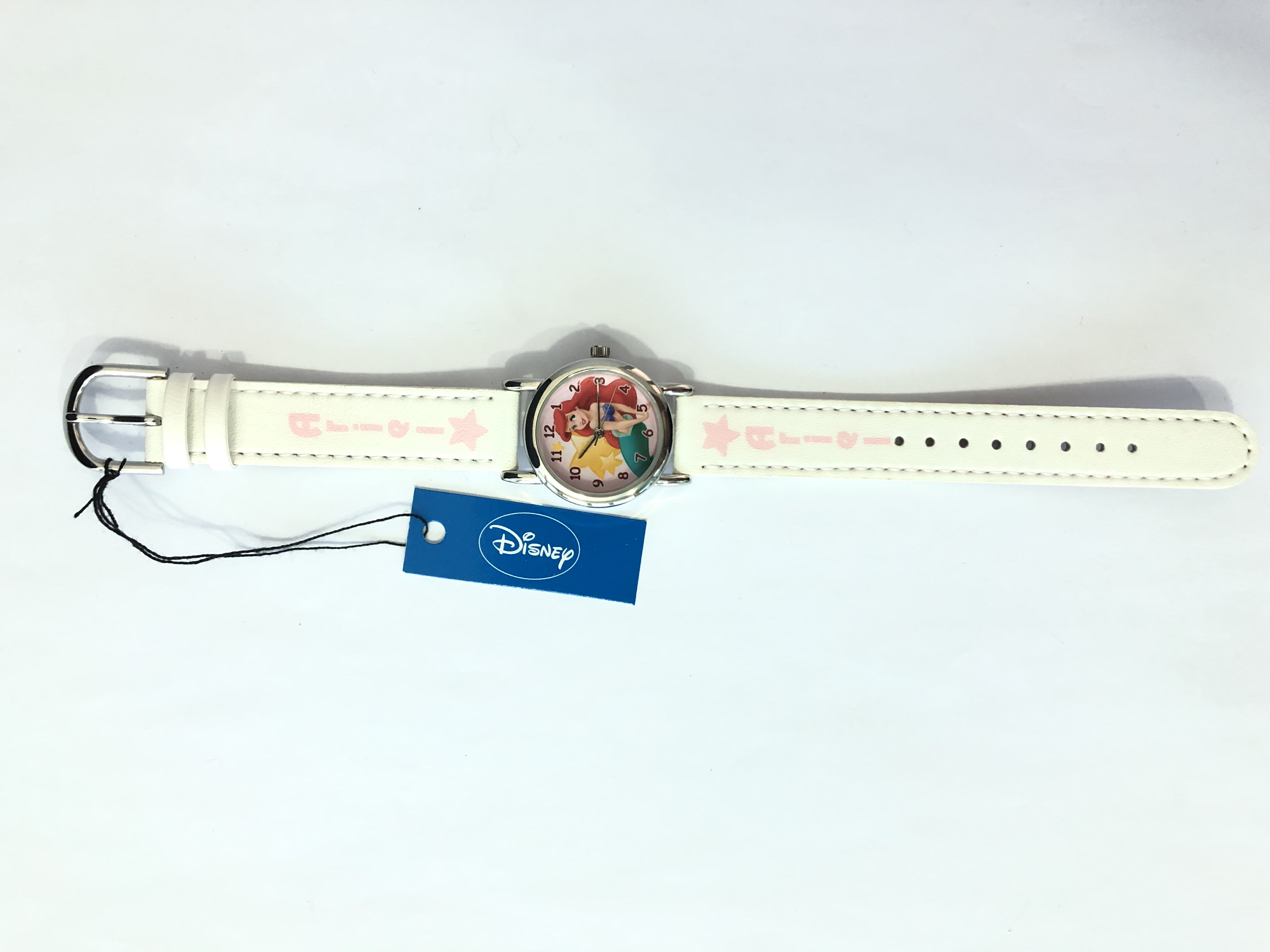 DISNEY WATCH ANALOG 4U  WHITE ARIEL