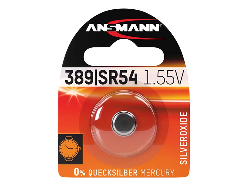 ANSMANN SR54 / 389 / 390,Non - Rechargeable Batteries,Silver Oxide Cells in Blister Packs