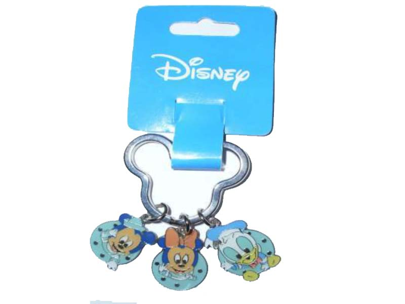 DISNEY KEYRING MICKEY/MINNIE/ DONALD BABIES