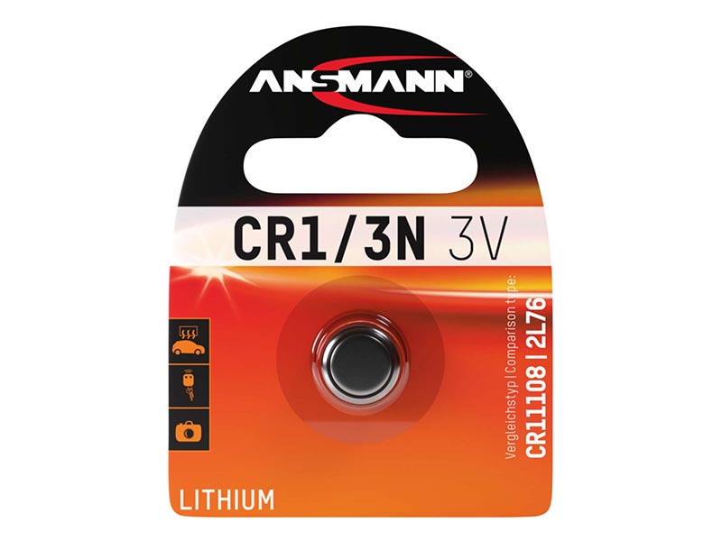 ANSMANN CR 1/3N - Pack of 1 - NEW,Non - Rechargeable Batteries,Lithium Photocell Range