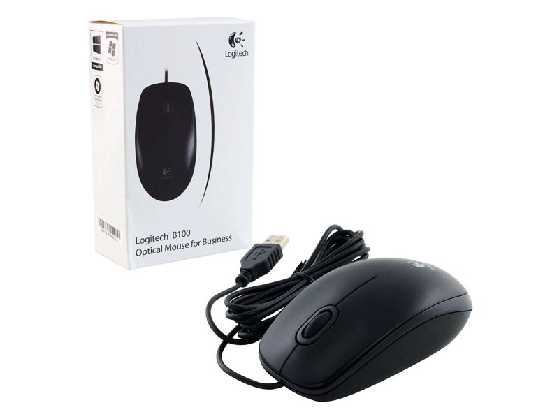 Logitech B100  MOUSE GREY WHITE BOX