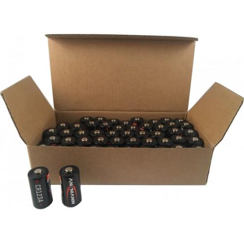 ANSMANN CR123 A - Bulk Packed (50 pcs),Non - Rechargeable Batteries,Lithium Photocell Range