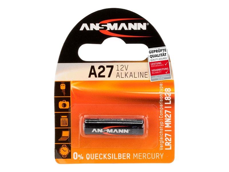 ANSMANN A27,Non - Rechargeable Batteries,Alkaline Cells in Blister Packs