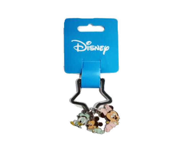 DISNEY KEYRING MICKEY/MINNIE/DONALD BABIES