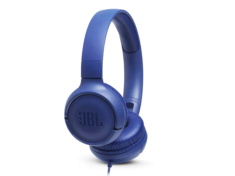 JBL Tune 500, OnEar Universal Headphones 1-button Mic/Rem (Blue)