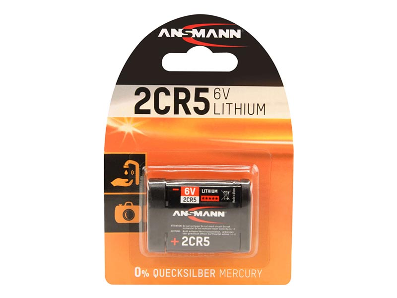 ANSMANN 2CR 5 - Pack of 1 - NEW,Non - Rechargeable Batteries,Lithium Photocell Range