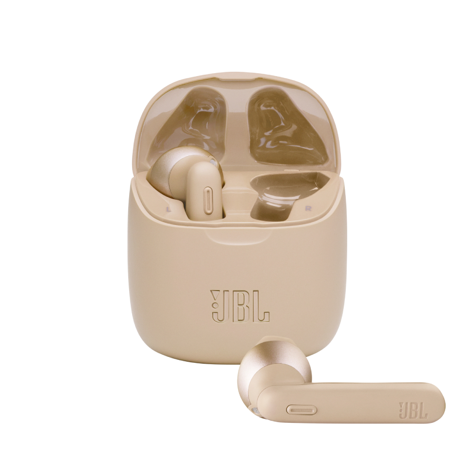 JBL Tune 225TWS, True Wireless Ear-Buds Headphones, (Gold)