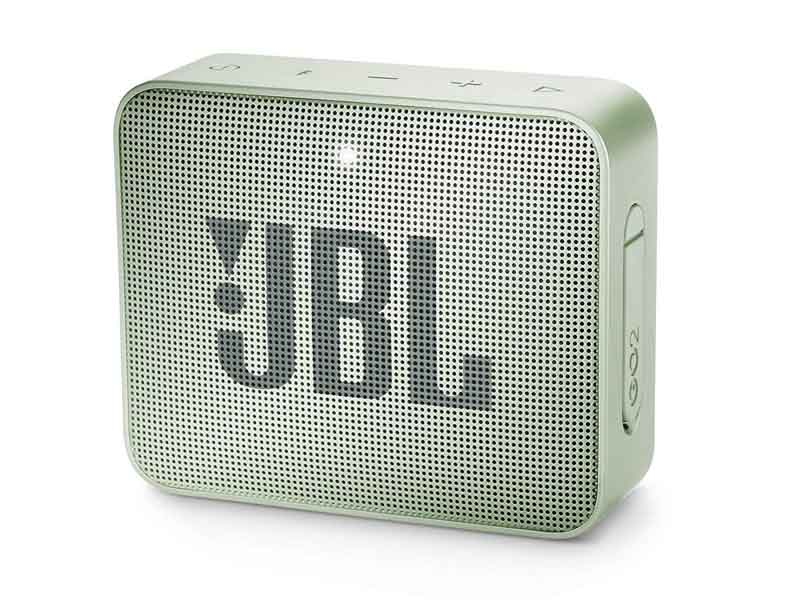JBL GO2, Portable Bluetooth Speaker, Waterproof (Mint)