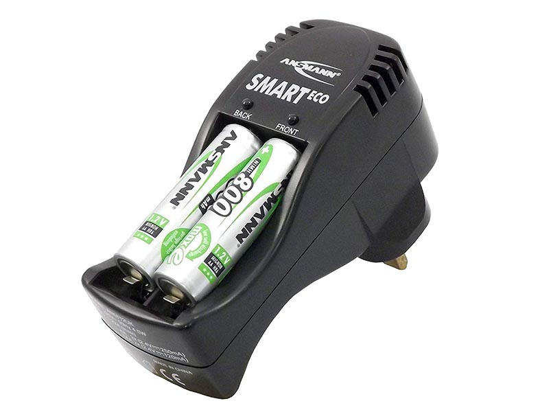 ANSMANN Smart Eco Charger UK(Inc. 4 x 800 AA LSD Cells),Consumer Battery Chargers, Smart Eco Charger