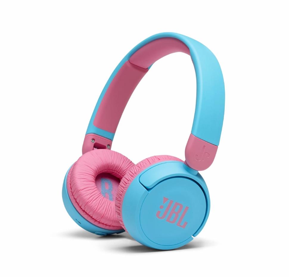 JBL JR310BT, On-Ear Headphones for Kids, Wireless (Blue)