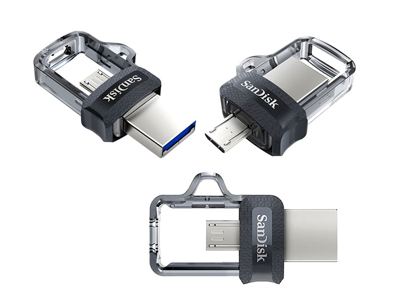 SanDisk Ultra Dual Drive m3.0 16GB Grey & Silver
