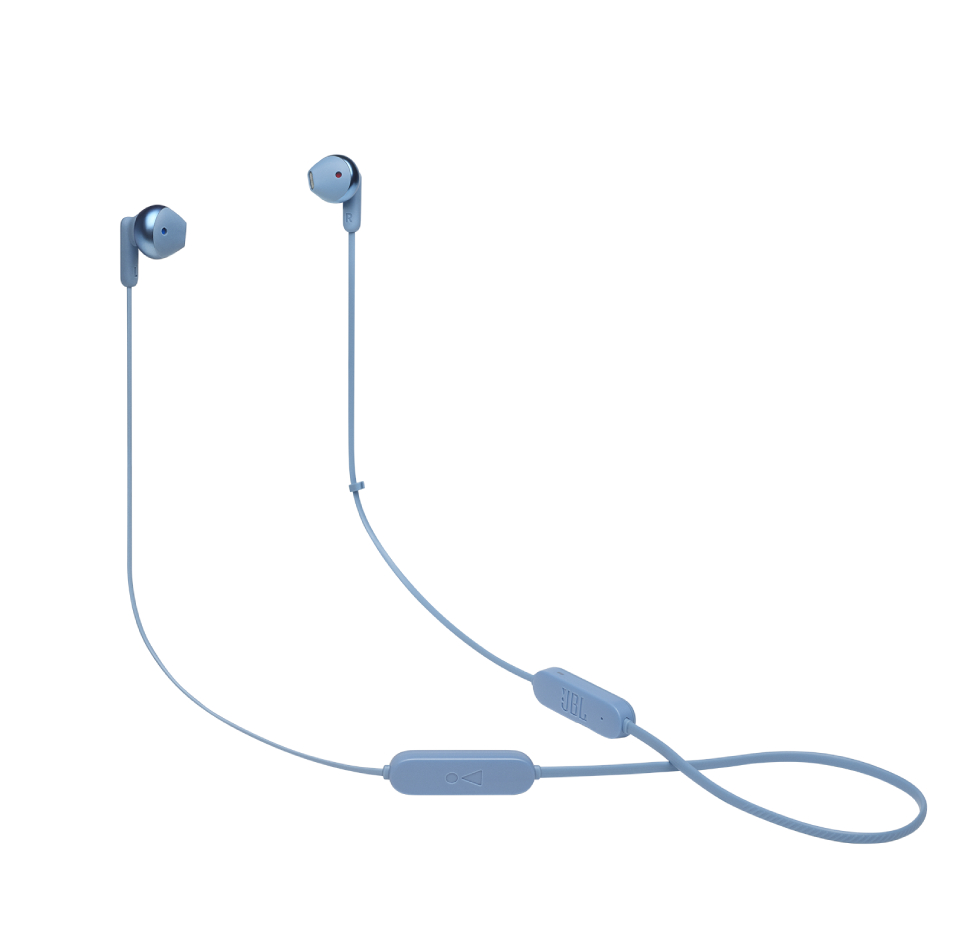 JBL Tune 215BT, Wireless EarBuds 3-button Mic/Remote (Blue)