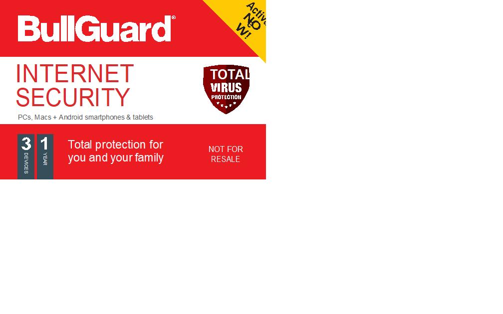 BullGuard Internet Security- 1YR / 3 Devices OEM Card
