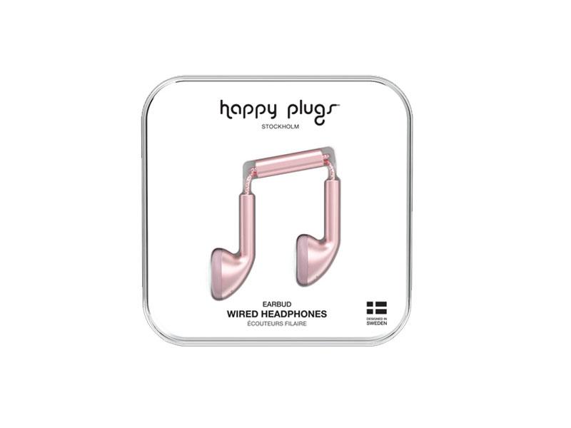 Happy Plugs Earbud Pink Gold, Headphones