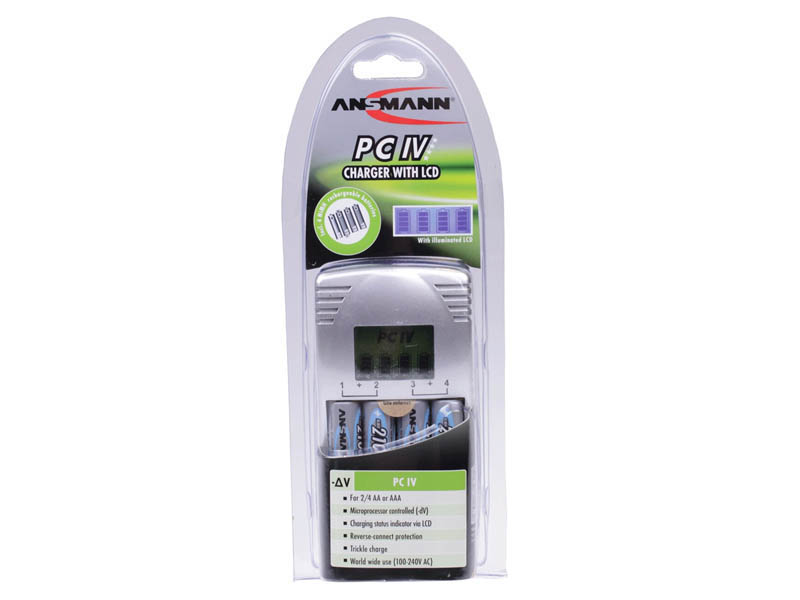 ANSMANN PC IV UK (Inc. 4 x Max e 2100 AA Cells),Consumer Battery Chargers,Photocam Series