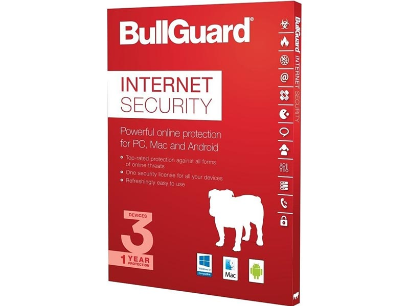 BullGuard Internet Security- 1YR / 3 Devices DVD BOX