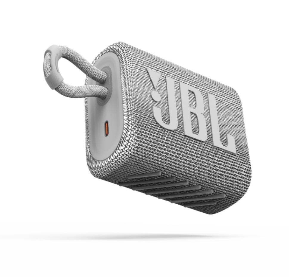 JBL GO3, Portable Bluetooth Speaker, Waterproof IP67, (White)