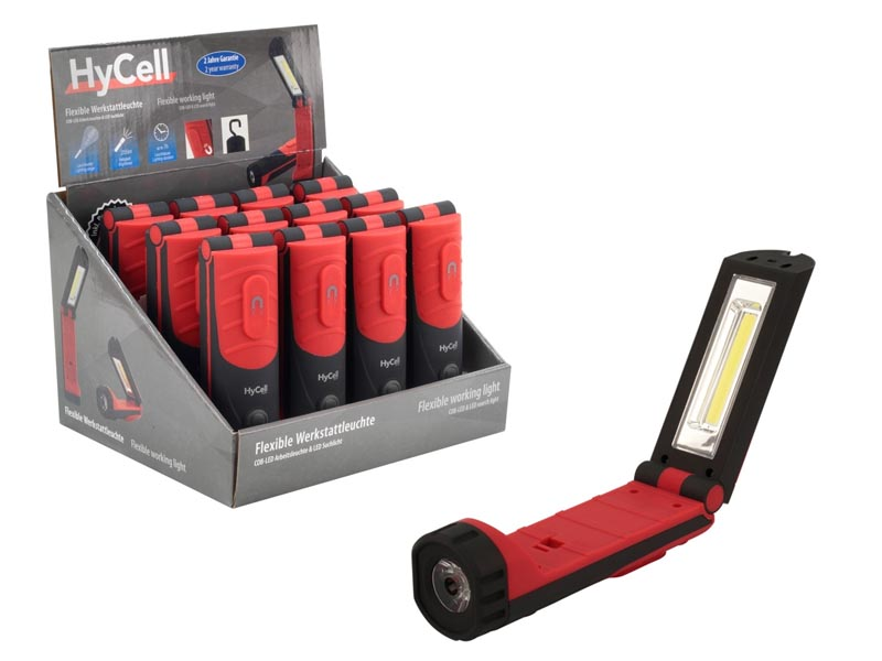 ANSMANN HYCELL Flexible Working Light COB-LED & LED Search Light Counter Display Model,Torches