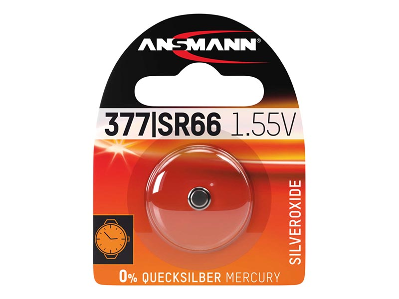 ANSMANN SR66 / 377,Non - Rechargeable Batteries,Silver Oxide Cells in Blister Packs