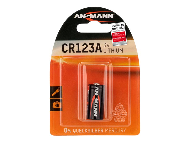 ANSMANN CR123 A - Pack of 1,Non - Rechargeable Batteries,Lithium Photocell Range