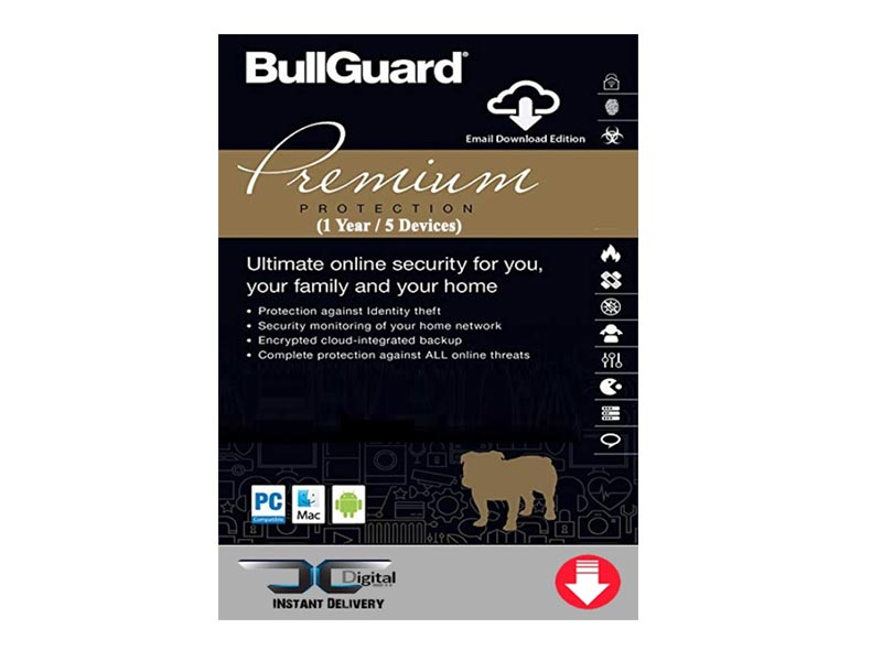 BullGuard Internet Security Premium - 1YR / 5 Devices DVD BOX