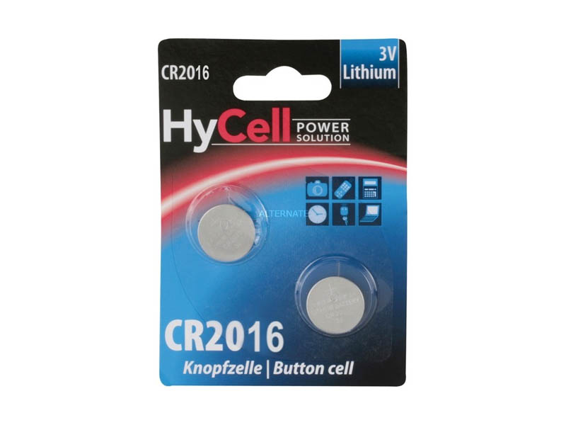 ANSMANN HYCELL CR 2016 - Pack of 2,Non Rechargeable Batteries,Coin Cells in Blister Packs