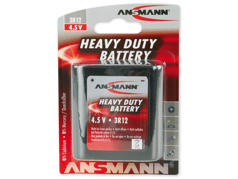 ANSMANN 3R12A,Non - Rechargeable Batteries,Zinc Carbon Cells in Blister Packs