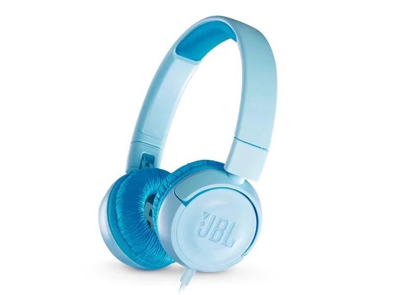 JBL JR300, On-Ear Headphones for Kids, Universal (Blue)