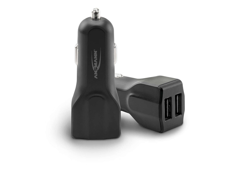 ANSMANN USB Car Charger 4.8A - 2 Port - Smart IC -NEW,Travel Power,USB Car Chargers