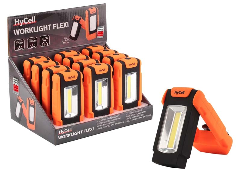 ANSMANN HYCELL Worklight Flexi COB LED Counter Display Model,Torches