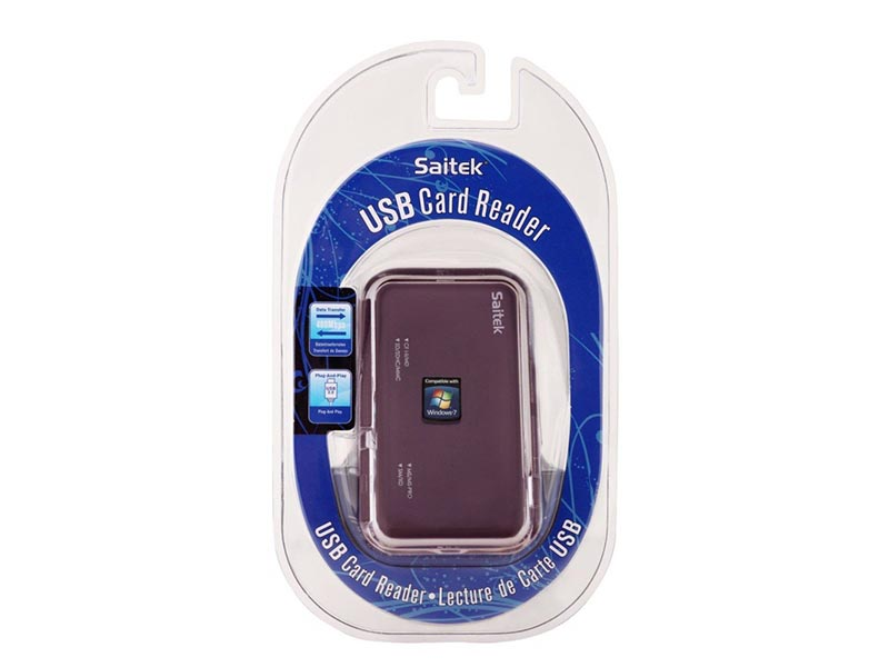 SAITEK UNIVERSAL CARD READER BLACK