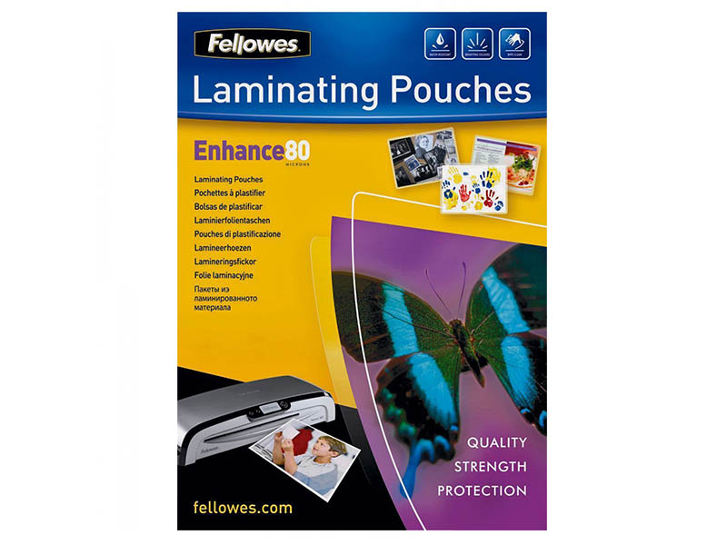 Fellowes A4 LAMINATING POUCHES 80MIC 25PK