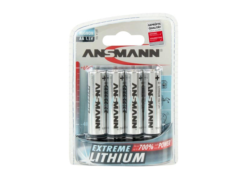 ANSMANN Mignon - AA size - Pack of 4,Non - Rechargeable Batteries,Extreme Lithium Range