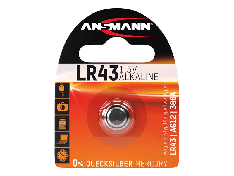 ANSMANN LR43,Non - Rechargeable Batteries,Alkaline Cells in Blister Packs