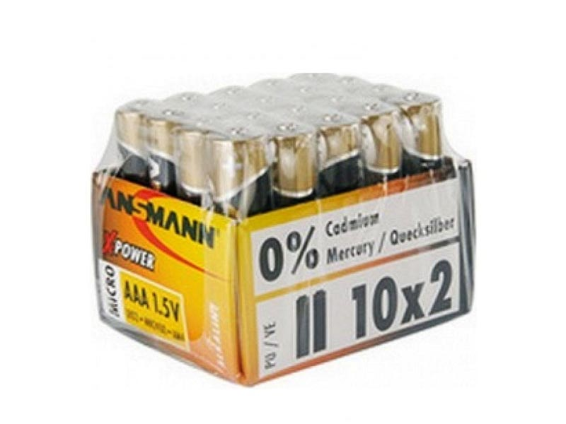 ANSMANN Micro - AAA size - Shrink of 2 Price Per shrink - 10 Shrinks per tray,Non - Rechargeable Bat