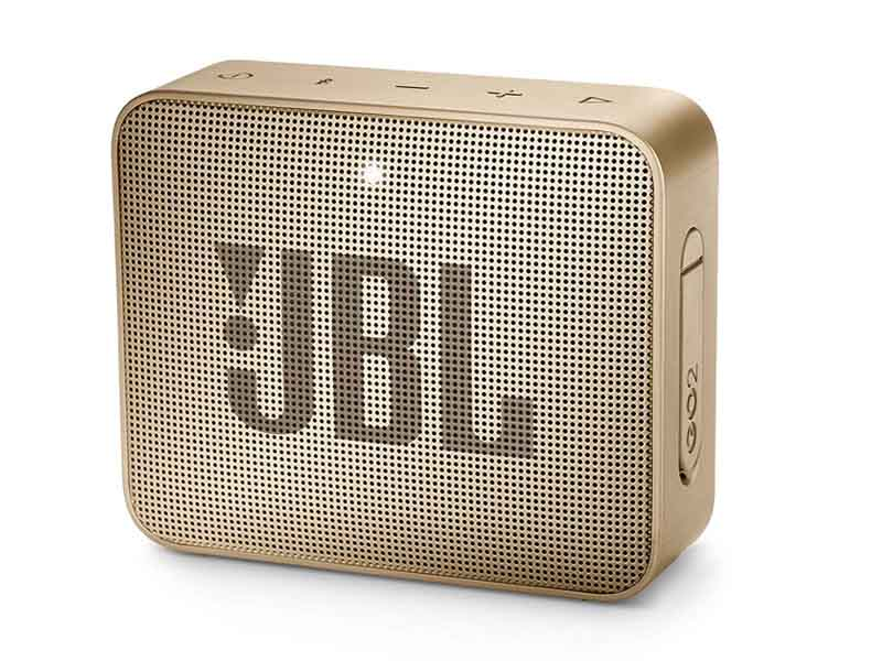 JBL GO2, Portable Bluetooth Speaker, Waterproof (Champaigne)