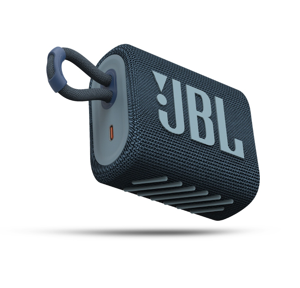 JBL GO3, Portable Bluetooth Speaker, Waterproof IP67, (Blue)