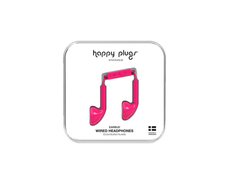 Happy Plugs Earbud Cerise, Headphones