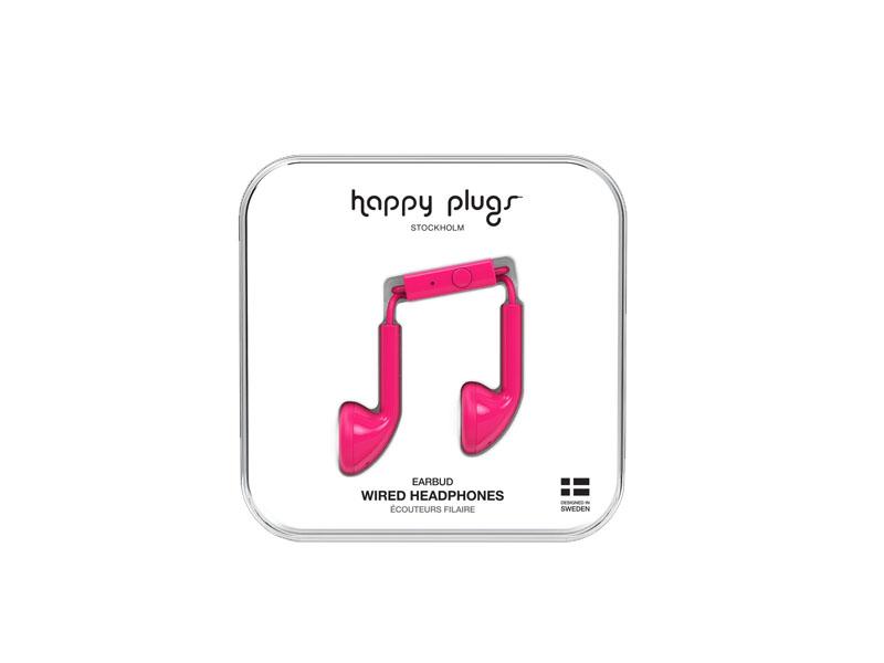 Happy Plugs Earbud Cerise, Headphones