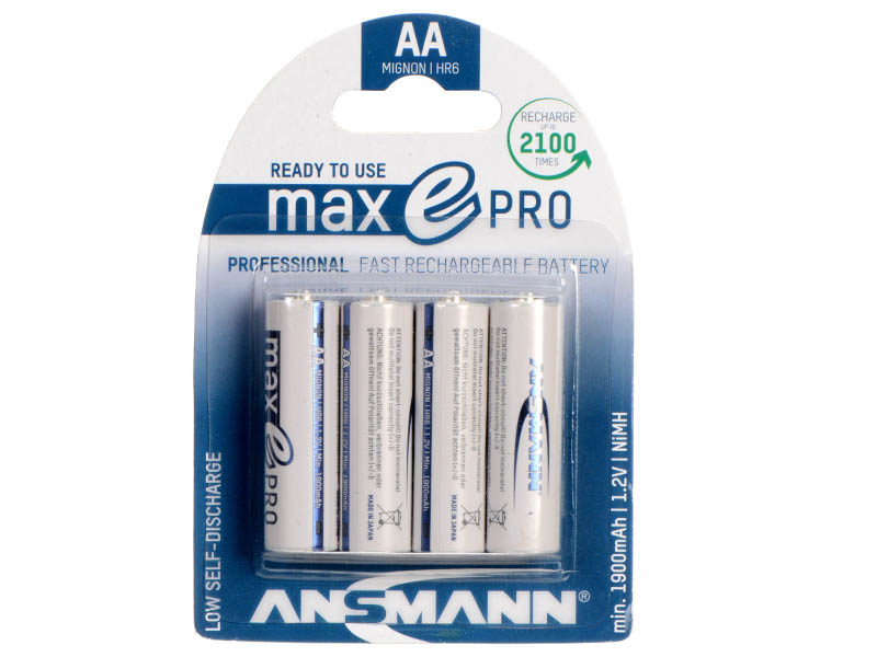 ANMSANN Micro - AA - Pack of 4,NiMH Rechargeable Batteries,NiMH MaxE Pro