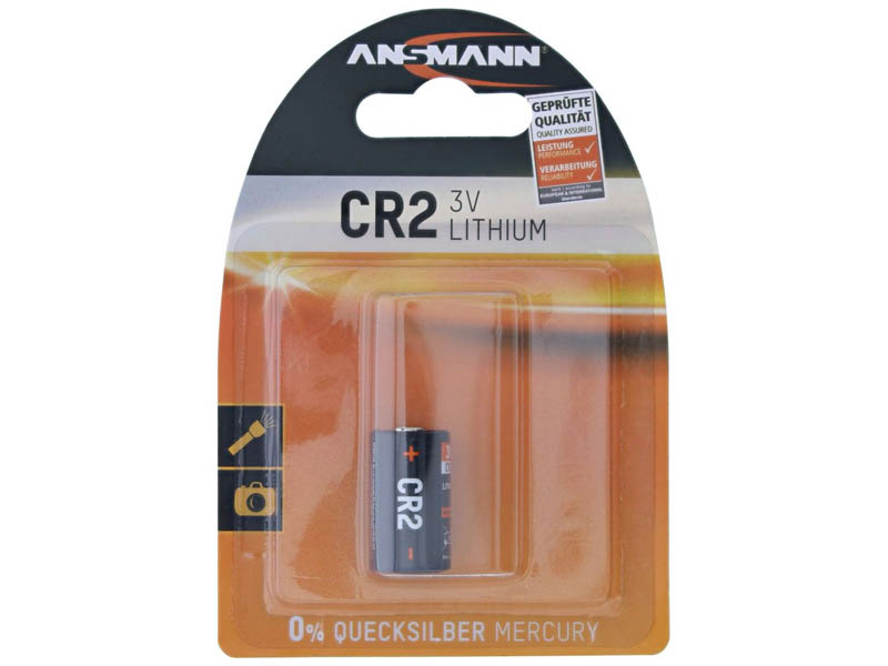ANSMANN CR 2 - Pack of 1,Non - Rechargeable Batteries,Lithium Photocell Range